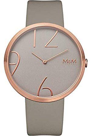 M&M Hombre Relojes - RelojAnalógicoparaMujerdeCuarzoconCorreaenCueroM11881-898