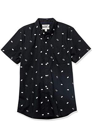 Goodthreads Hombre Casual - Slim-fit Short-Sleeve Printed Poplin Shirt Camisa abotonada, Dice