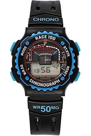 Digi-Tech Hombre Relojes - Reloj Digital para Hombre de Cuarzo con Correa en Caucho DT102916