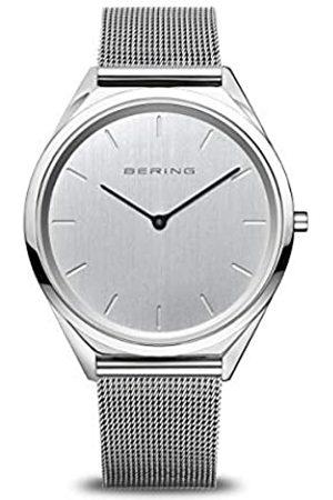 Bering Relojes - Reloj Analógico Ultra Slim Collection para Unisex de Cuarzo con Correa en Acero Inoxidable & Cristal de Zafiro 17039-000