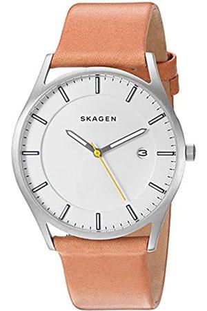 Skagen Hombre Relojes - Reloj analogico para Hombre de Cuarzo con Correa en Piel SKW6282