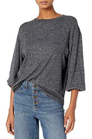 Daily Ritual Mujer Blusas - Cozy Knit Rib Blouson-Sleeve Sweatshirt Athletic-Shirts