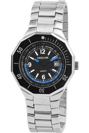 Excellanc Hombre Relojes - 284021200112 - Reloj analógico de caballero de cuarzo con correa de aleación plateada