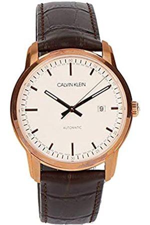 Calvin Klein Hombre Relojes - CalvinKleinRelojAnalógicoparaHombredeAutomáticoconCorreaenCueroK5S346G6
