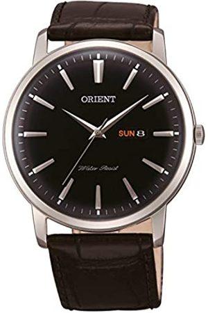 Orient Hombre Relojes - Reloj analógico de cuarzo para hombre con correa de piel FUG1R002B6