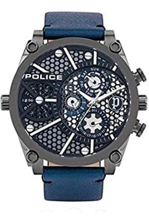 Police Reloj Analógico para Hombre de Multiesfera con Correa en Cuero PL15381JSU.61B