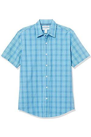 Amazon Slim-Fit Short-Sleeve Casual Poplin Shirt Button-Down-Shirts M