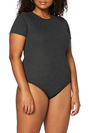 MERAKI Mujer Bodies y corpiños - Marca Amazon - Trajecito de Algodón Mujer, ( Oscuro Marl)., S