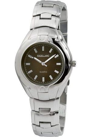 Excellanc Hombre Relojes - 280027000123 - Reloj analógico de caballero de cuarzo con correa de aleación plateada