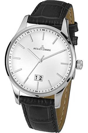 Jacques Lemans Hombre Relojes - Reloj Analógico para Hombre de Cuarzo con Correa en Cuero 1-1862L