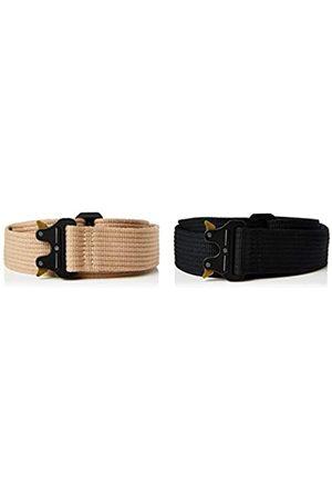 FIND Hombre Cinturones - Marca Amazon - Cinturón Estilo Militar Hombre, Pack de 2, XL