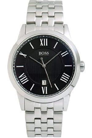 HUGO BOSS Boss Black - Reloj analógico de caballero de cuarzo con correa de acero inoxidable plateada