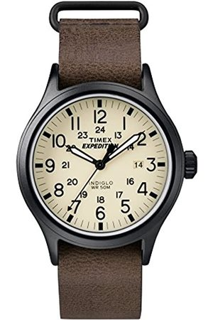 Timex Hombre Relojes - Reloj Analógico para Hombre de Cuarzo con Correa en Cuero TWC007000