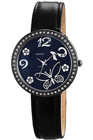 Akzent Mujer Relojes - Reloj Analógico para Mujer de Cuarzo con Correa en Cuero SS8073000012