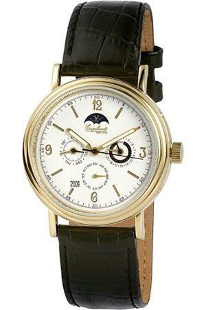 Engelhardt 385702029045 - Reloj analógico de caballero automático con correa de piel negra - sumergible a 50 metros
