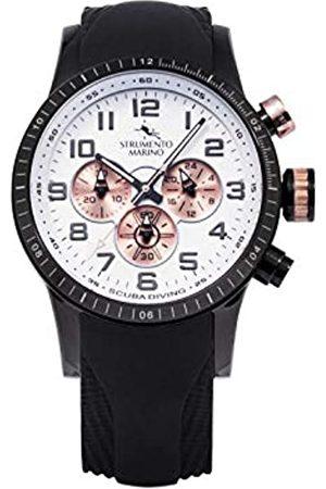 Strumento Marino Hombre Relojes - Reloj Analógico Para Hombre de Cuarzo con Correa en Silicone Sm132S-Bk-Bn-Rg-Nr