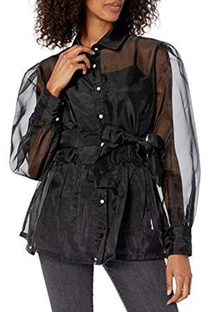 THE DROP Camisa para Mujer, de Organza con Camisola Elástica, por @shopdandy