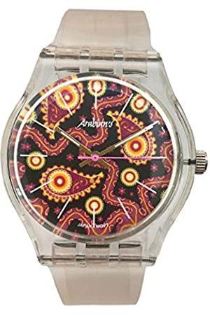 Arabians RelojAnalógicoparaHombredeCuarzoconCorreaenSiliconaHBA2239D