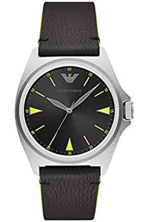 Emporio Armani Reloj Analógico para Hombre de Cuarzo con Correa en Piel Genuina AR11330