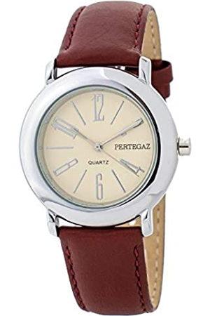Pertegaz Relojes - Reloj Analógico para Adultos Unisex de Cuarzo con Correa en Cuero P33006-R