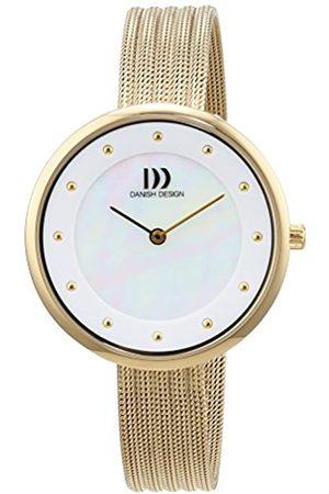Danish Design Mujer Relojes - Reloj Cuarzo para Mujer con Analogico Y Oro Chapado en Acero Inoxidable 3320214