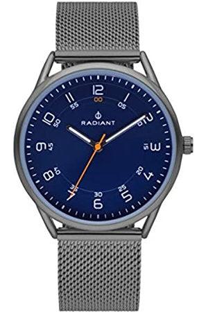Radiant Reloj analógico para Hombre de . Colección Taycan. Reloj Gris con Malla milanesa y Esfera Azul. 3ATM. 41mm. Referencia RA517603.