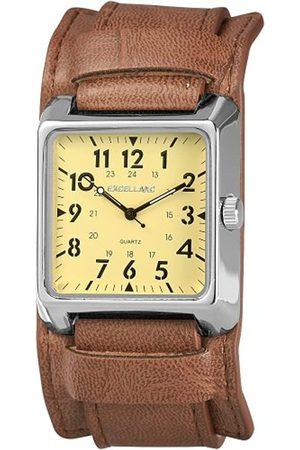 Excellanc 295027500064 - Reloj analógico de caballero de cuarzo con correa de piel
