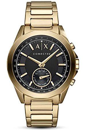 Armani Hombre Relojes - Smartwatch Híbrido para Hombre de Connected con Correa en Acero Inoxidable AXT1008
