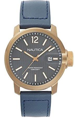 Nautica Hombre Relojes - RelojAnalógicoparaMujerdeCuarzoconCorreaenCueroNAPSYD004