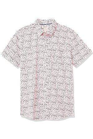 Goodthreads Hombre Estampadas - Standard-Fit Short-Sleeve Printed Poplin Shirt Button-Down-Shirts