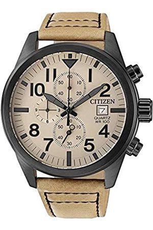 Citizen Hombre Relojes - RelojCronógrafoparaHombredeCuarzoconCorreaenCueroAN3625-07X