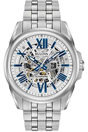 BULOVA Reloj Analógico para Hombre de Automático con Correa en Acero Inoxidable 96A187