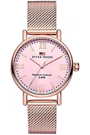 River Woods Mujer Relojes - Reloj Analógico para Mujer de Cuarzo con Correa en Acero Inoxidable RW340029