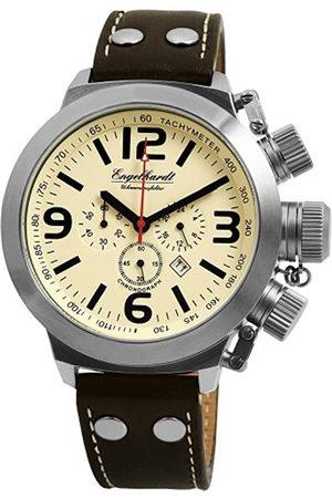 Engelhardt Hombre Relojes - 384927629001 - Reloj cronógrafo de caballero de cuarzo con correa de piel - sumergible a 50 metros