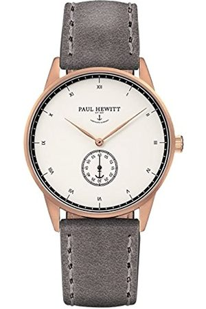 Paul Hewitt Hombre Relojes - PaulHewittRelojanalogicoparaUnisexdeCuarzoconCorreaenPielPH-M1-R-W-13M