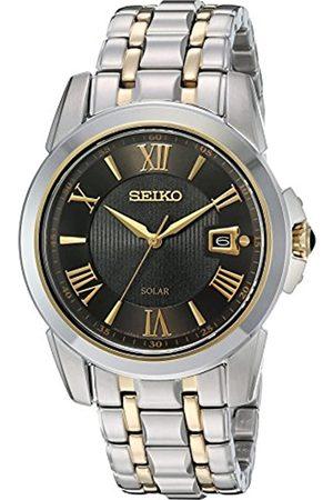 Seiko Reloj de Cuarzo japonés SNE398 LGS Solar con Pantalla analógica de Dos Tonos para Hombre