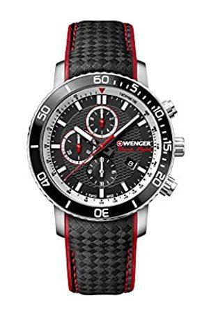 Wenger Hombre Relojes - Hombre Roadster Black Night Chronograph - Reloj de Acero Inoxidable de Cuarzo analógico de fabricación Suiza 01.1843.105