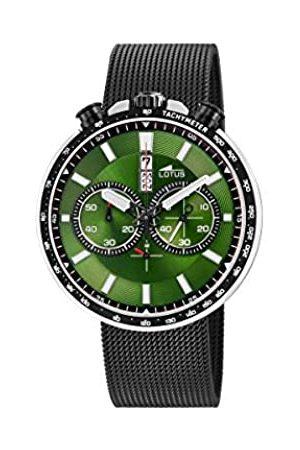 Lotus Hombre Relojes - Reloj Cronógrafo para Hombre de Cuarzo con Correa en Acero Inoxidable 10139/2