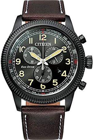 Citizen Reloj Analógico para Hombre de con Correa en Cuero AT2465-18E