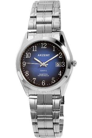 Akzent Hombre Relojes - SS7423100005 - Reloj analógico de caballero de cuarzo con correa de aleación plateada - sumergible a 30 metros