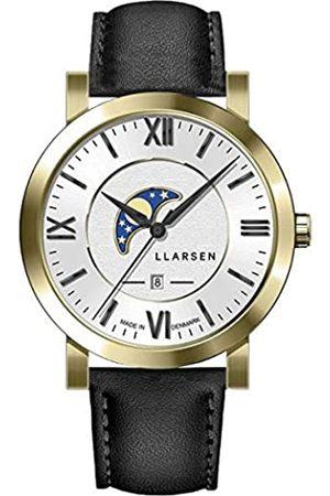 LLARSEN Reloj Analógico para Hombre de Cuarzo con Correa en Cuero 180GWB3-GINK20
