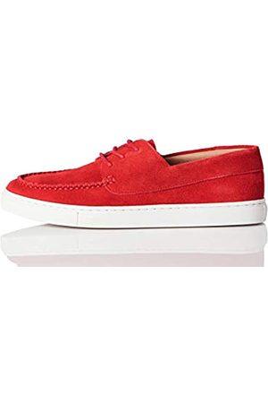 FIND Cupsole Boat Shoe Náuticos, (Red Suede)