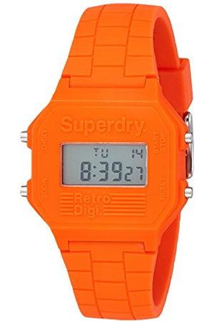 Superdry Hombre Relojes - Reloj Digital para Hombre de Cuarzo con Correa en Silicona SYGSYG201O