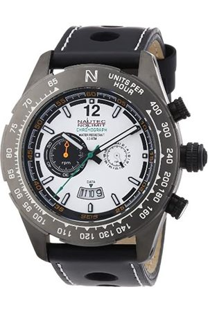 Nautec No Limit Hombre Relojes - IP QZ/LTGMBKWH - Reloj cronógrafo de Cuarzo para Hombre con Correa de Piel