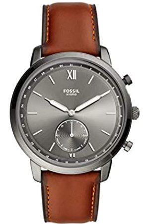 Fossil Smartwatch Híbrido para Hombre de Connected con Correa en Piel FTW1194