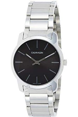 Calvin Klein Relojes - Reloj Analógico-Digital para Unisex Adultos de Cuarzo con Correa en Acero Inoxidable K2G22143