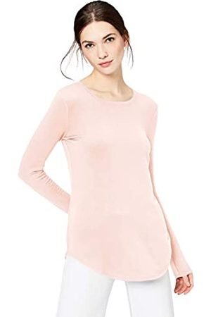 Daily Ritual Mujer Blusas - Supersoft Terry Long-Sleeve Shirt with Shirttail Hem camisa, (b)
