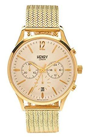 Henry Henry de Londres Unisex Reloj de Pulsera Westminster Cronógrafo Cuarzo de Acero Inoxidable hl41 cm 0020