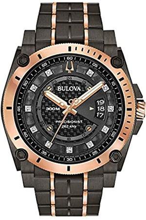 BULOVA Reloj Analógico para Hombre de Cuarzo con Correa en Acero Inoxidable 98D149