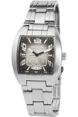 Excellanc 284021000127 - Reloj analógico de caballero de cuarzo con correa de aleación plateada
